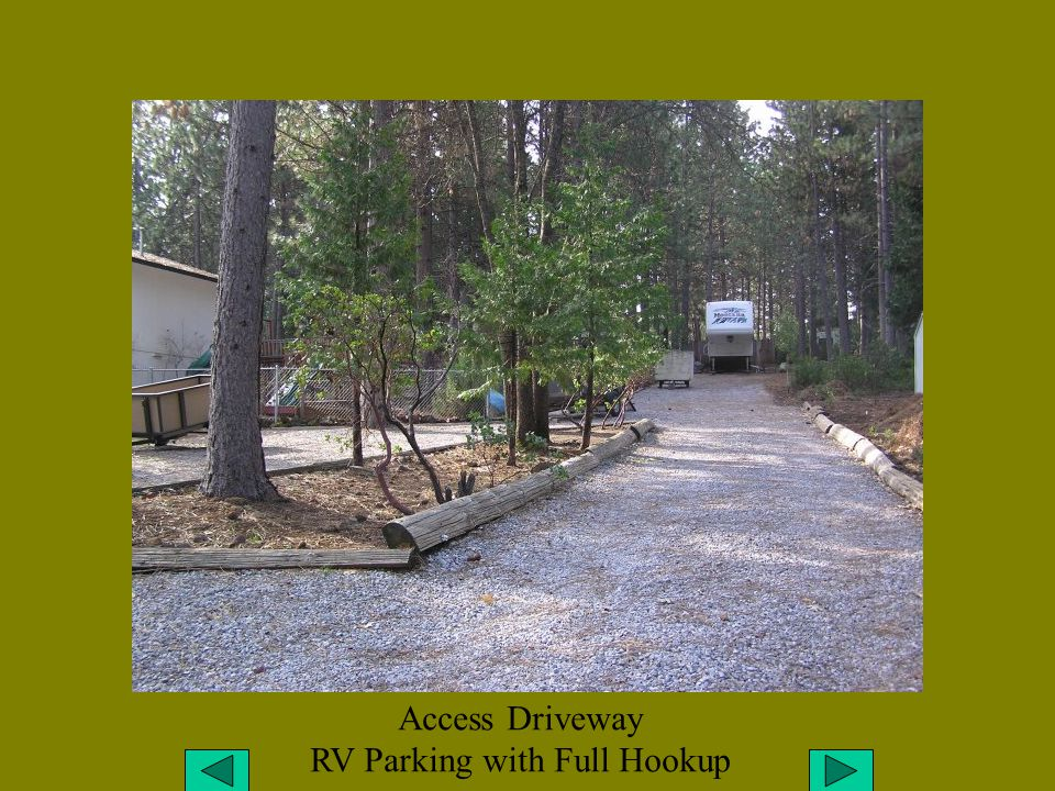 Access Driveway RV Parking with Full Hookup