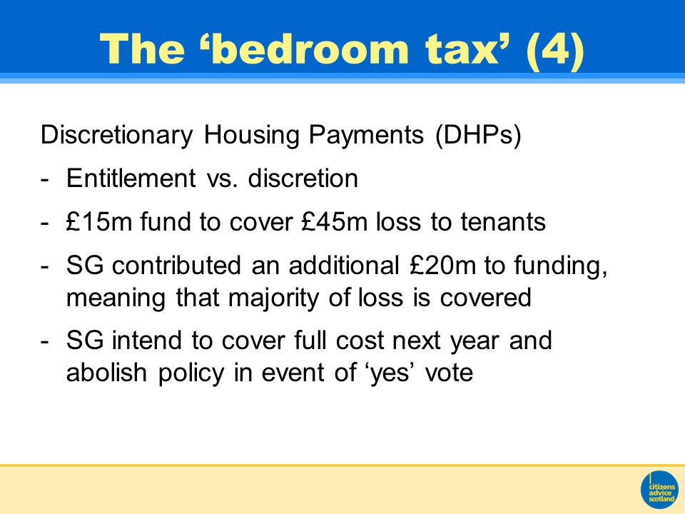 The 'bedroom tax' (4) Discretionary Housing Payments (DHPs) -Entitlement vs.
