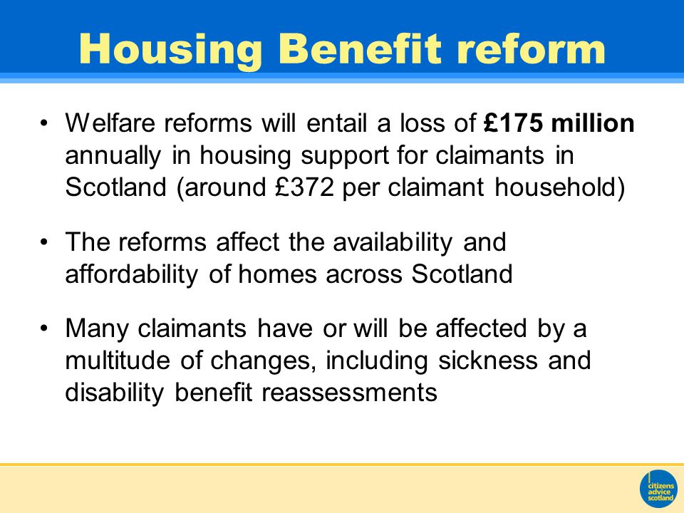 Impact - tenants Disabled tenants particularly affected Rent arrears Stress and uncertainty Need for advice/support Additional income – employment/payday loans Food/fuel poverty
