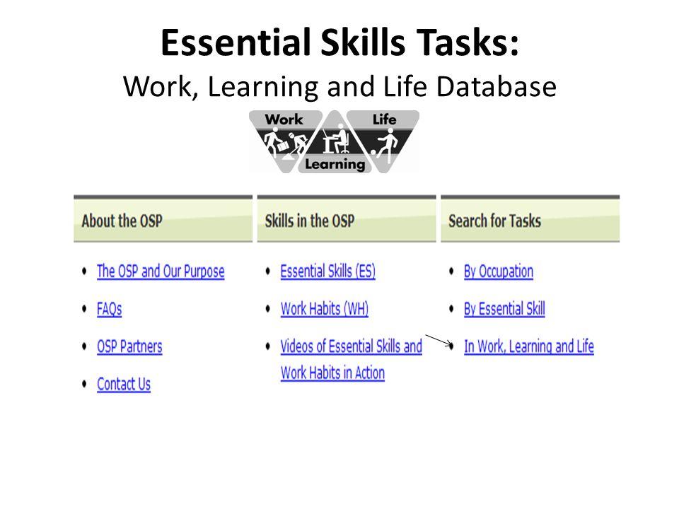 Step 2 - Analyze the ES Task ES TaskWhich Essential Skills are being used.