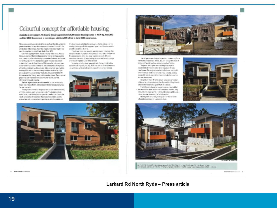 19 Larkard Rd North Ryde – Press article