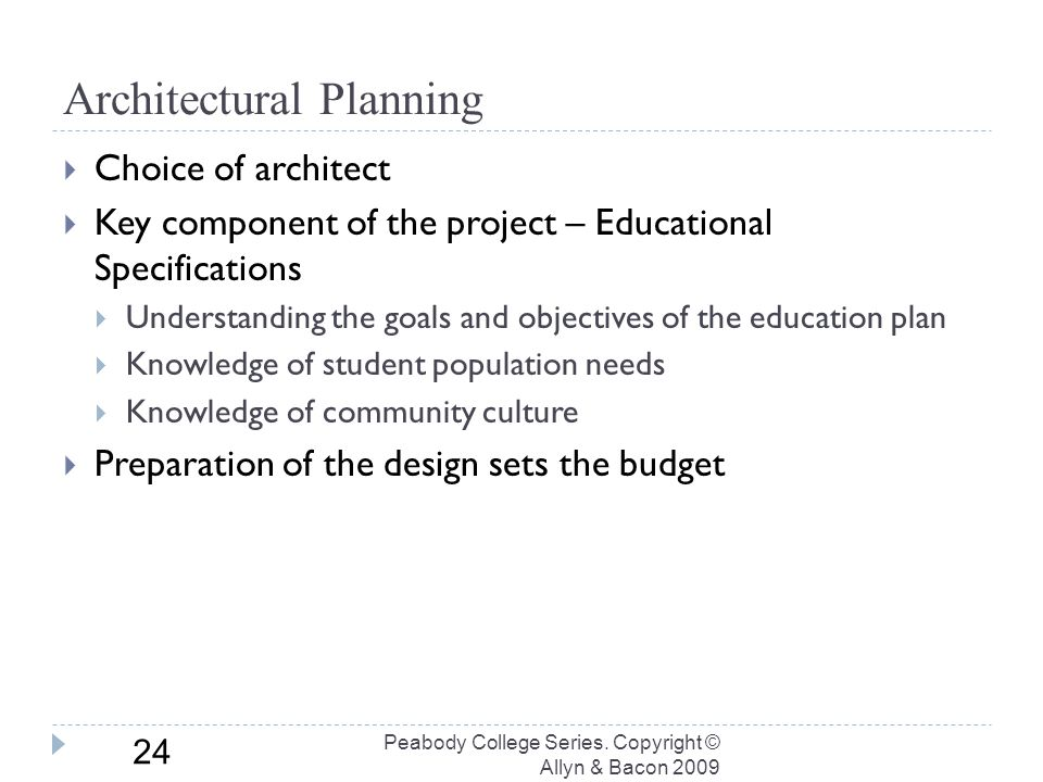 Architectural Planning Peabody College Series.