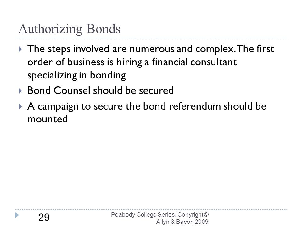 Authorizing Bonds Peabody College Series.