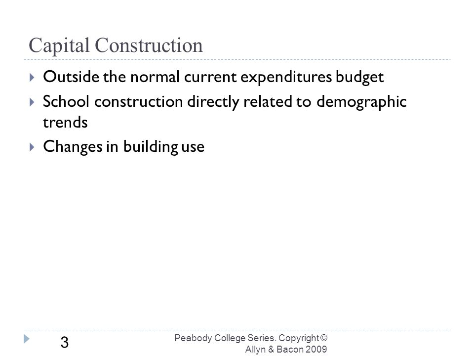 Demography and School Construction Peabody College Series.