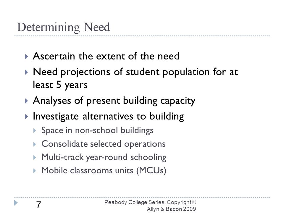 Determining Need Peabody College Series.