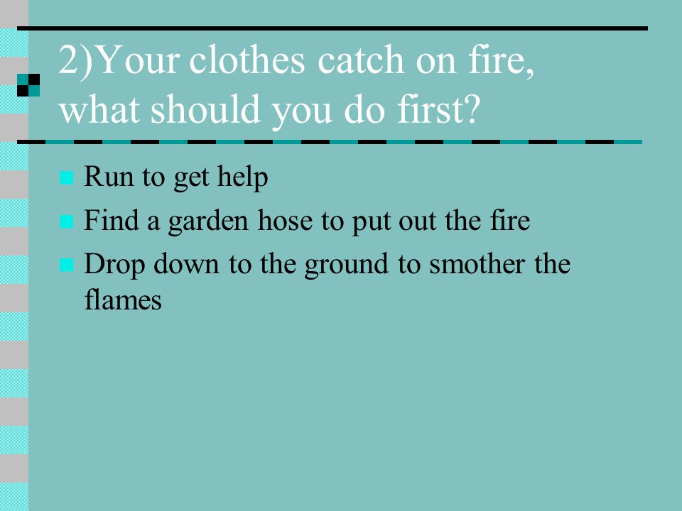 3)After a fall, the person can't locate the pain, what should you do.