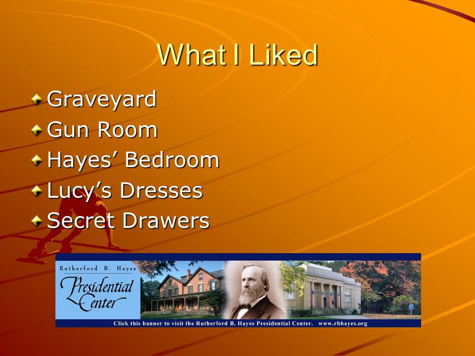 What I Liked Graveyard Gun Room Hayes' Bedroom Lucy's Dresses Secret Drawers
