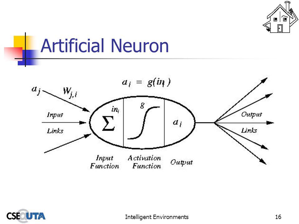 Intelligent Environments16 Artificial Neuron