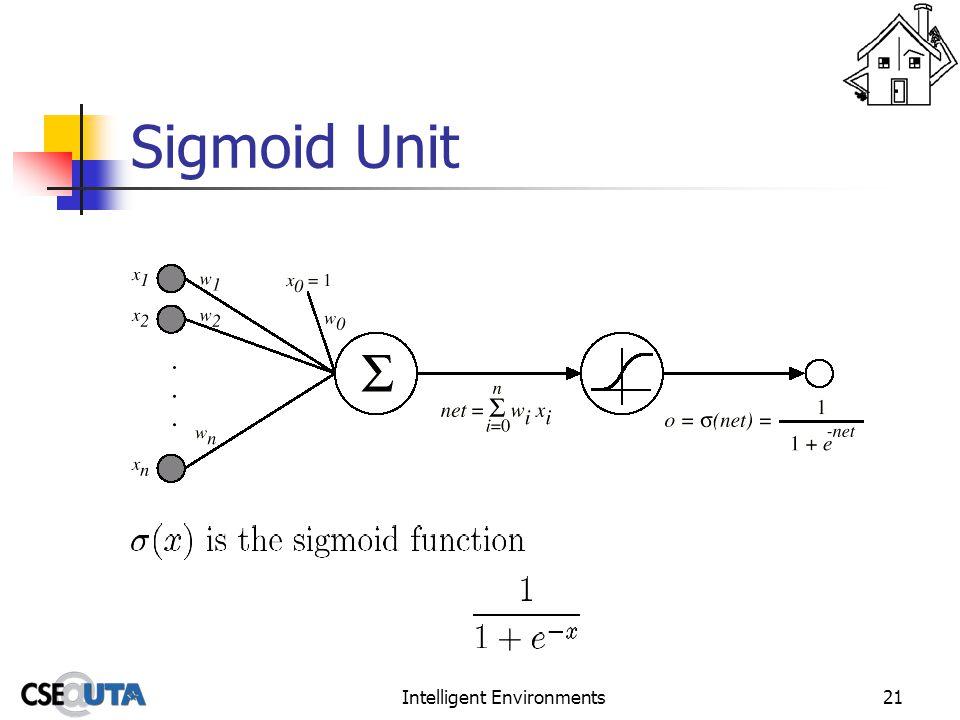 Intelligent Environments21 Sigmoid Unit