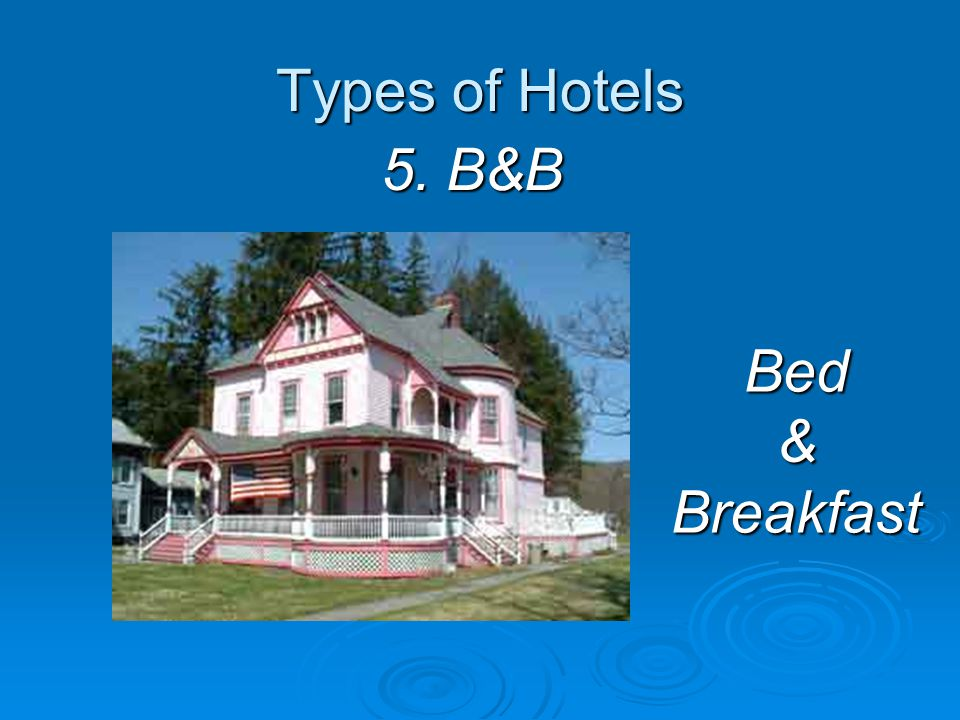 Types of Hotels 4. Youth Hostel