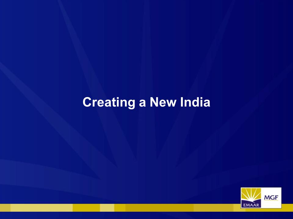 Creating a New India