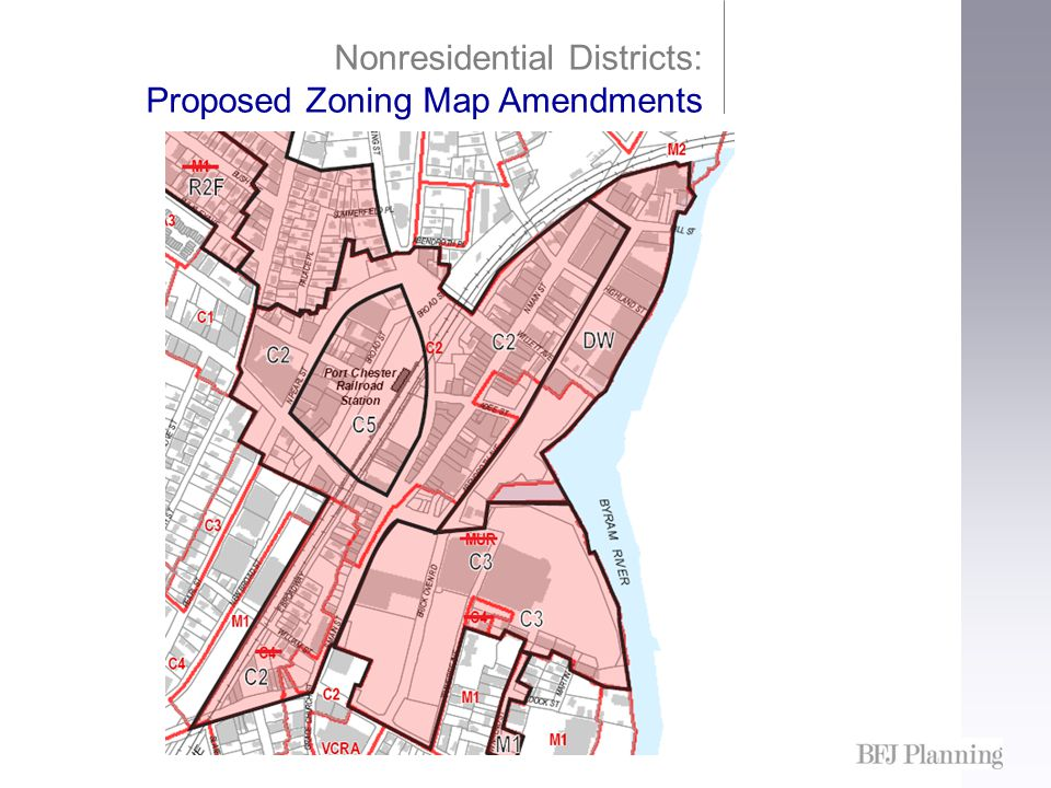 Nonresidential Districts: Proposed Zoning Map Amendments