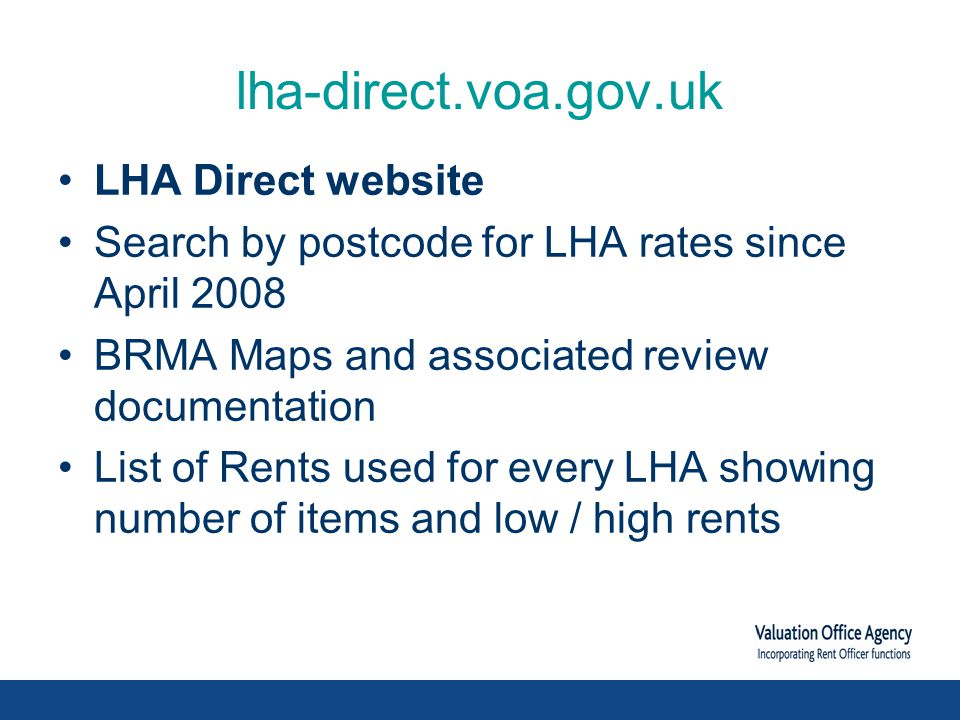 Further Reforms LHA rates Shared rooms (LHA Cat A), which applies to most single people under 25, will be extended to people aged under 35 from January 2012.