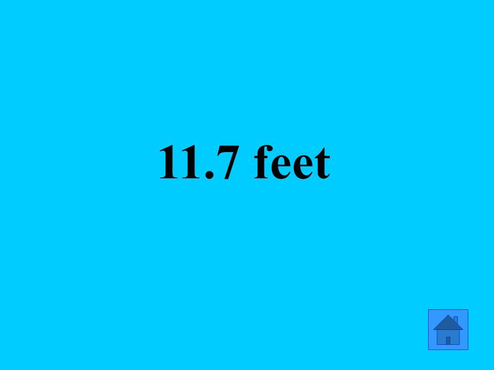 11.7 feet
