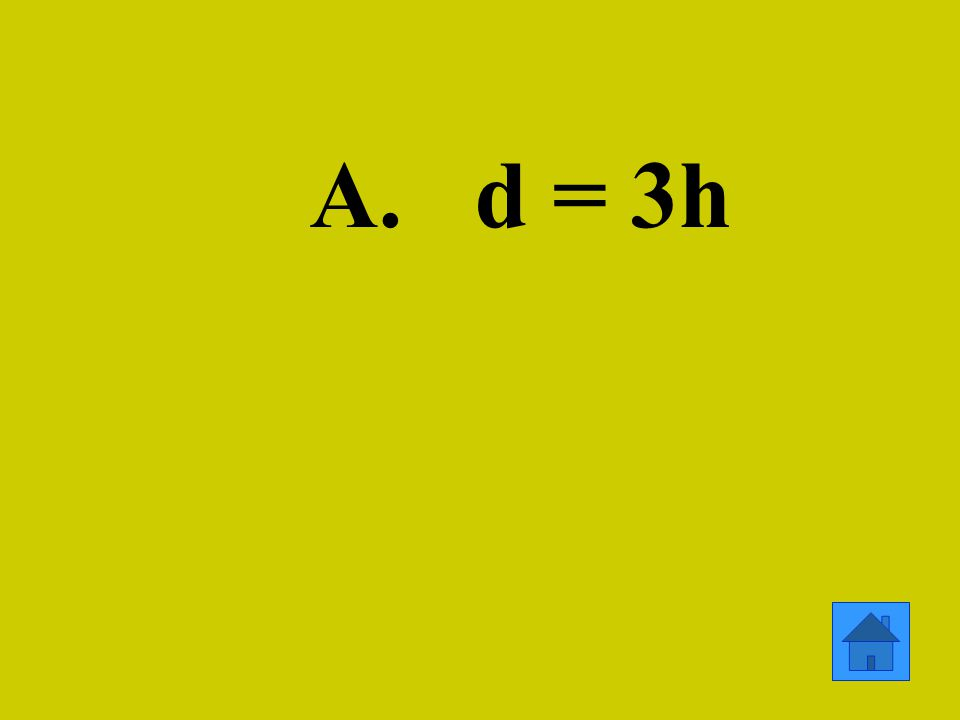 A. d = 3h