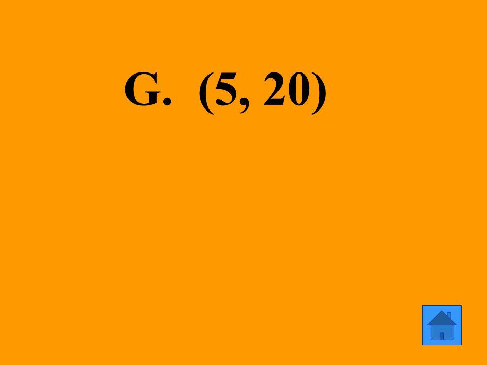 G. (5, 20)