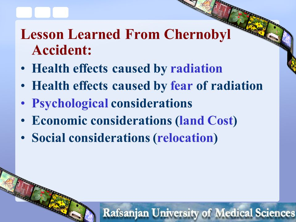 Mortazavi SMJ Should the Residents be aware of the extra high radiation levels in their environment.