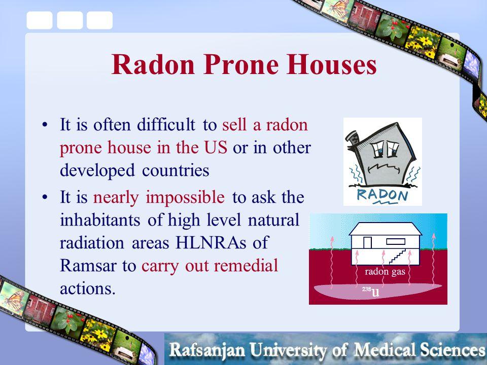 Mortazavi SMJ Radon in Ramsar Radon levels up to 3700 Bq/m3 (over 100 pCi/L).