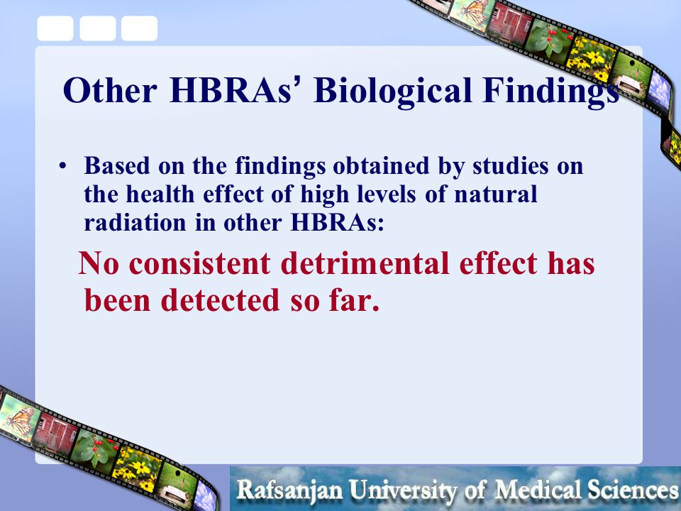HBRAs and the Radiation Protection Policy Considering LNT and ALARA, residents ' health could be severely affected and public health in HBRAs like Ramsar would be best served by relocating the inhabitants.