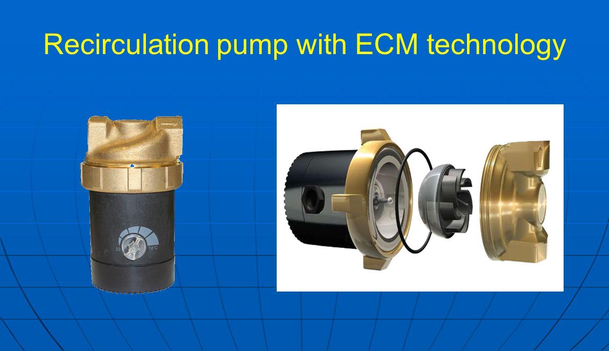 Recirculation pump with ECM technology