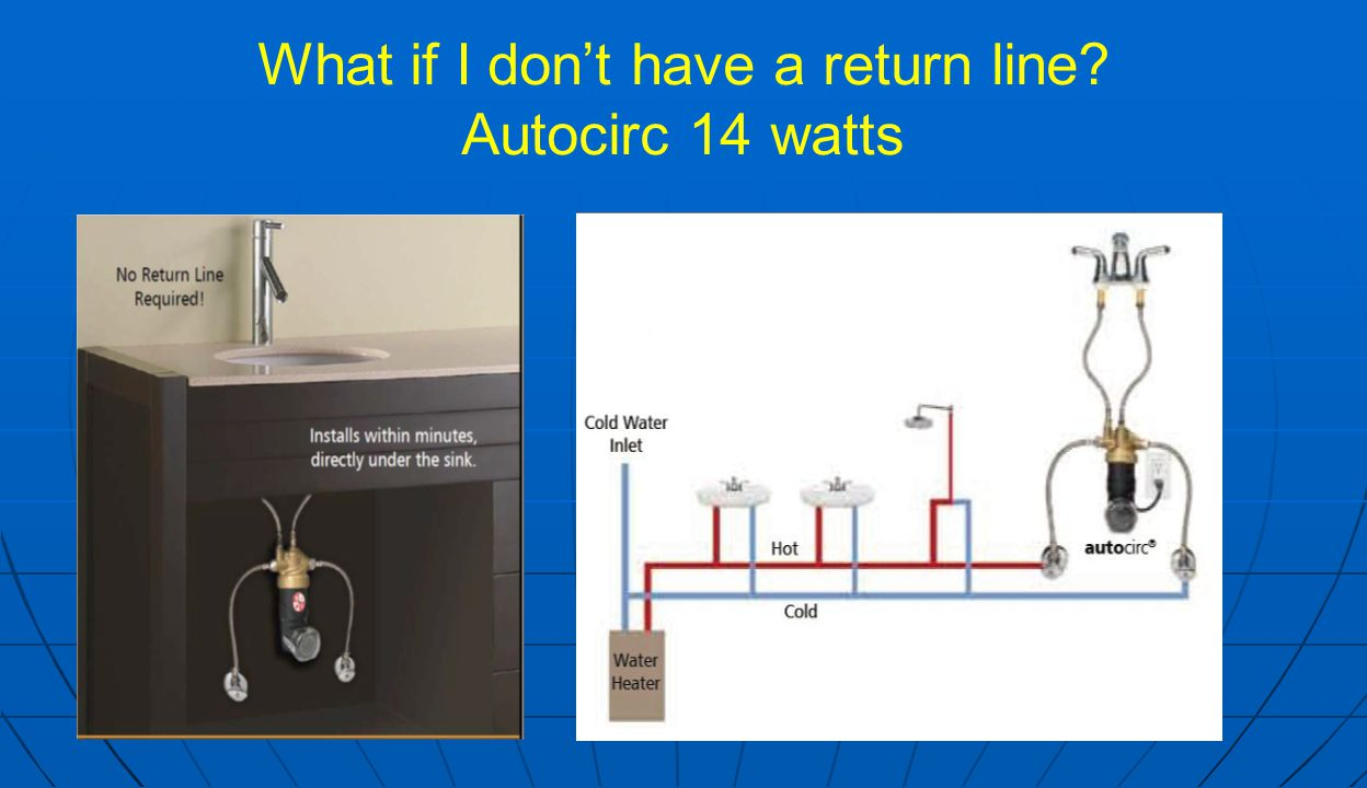 What if I don't have a return line Autocirc 14 watts