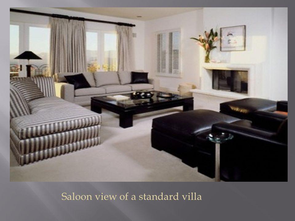 Saloon view of a standard villa