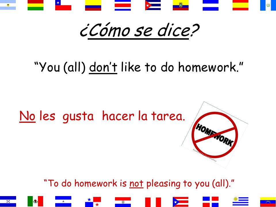 ¿Cómo se dice We like to learn. To learn pleases us. aprender.gustaNos