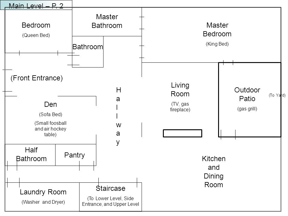 Half Bathroom Laundry Room (Washer and Dryer) (To Yard) Main Level – P.