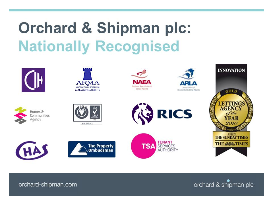 Orchard & Shipman plc: Nationally Recognised