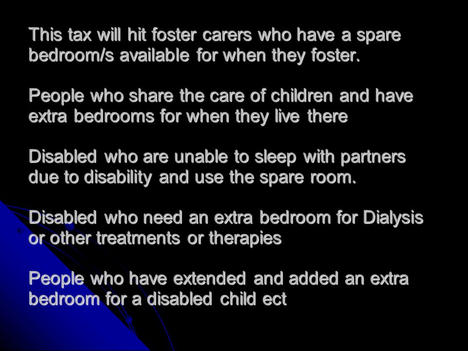 Examples: Single parent with three children, boy 7, boy 12, boy 14 Mum needs a three bedroom property the 2 boys under 16 can share.