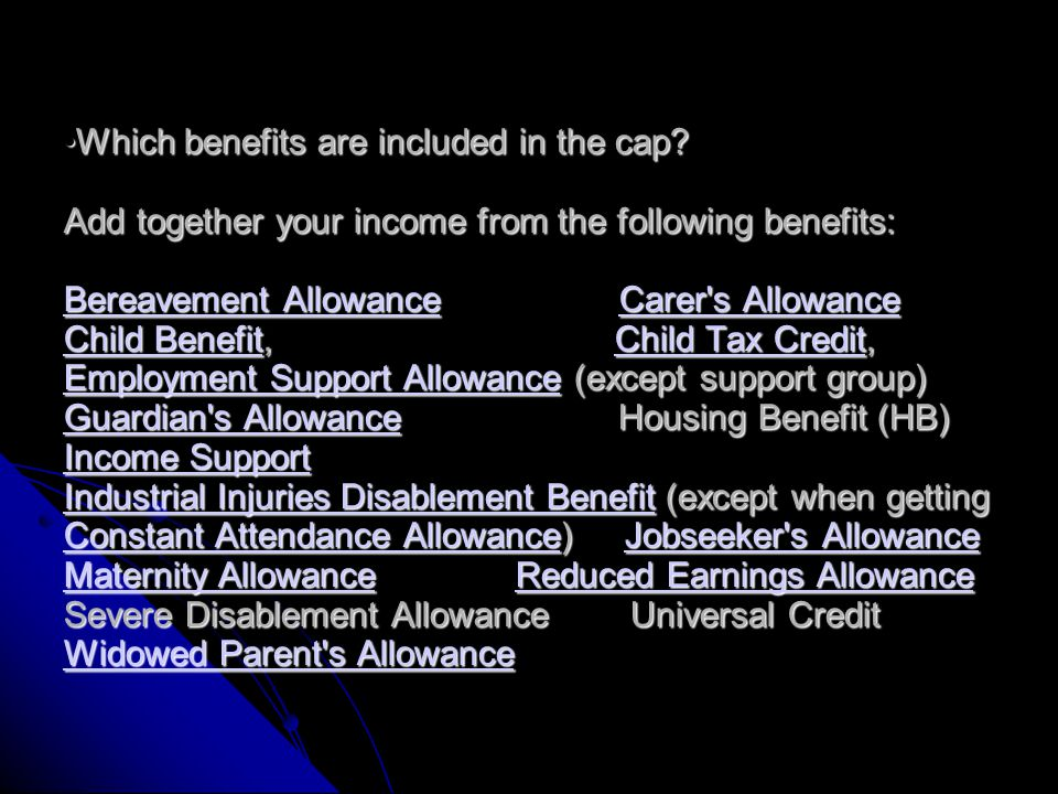 Once Universal Credit is brought in (October 2013 pilot starts) the benefit cap will be applied by restricting the Universal Credit payment. This will