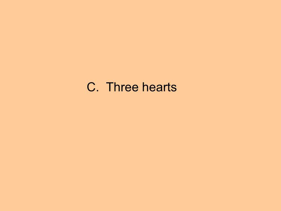 C. Three hearts