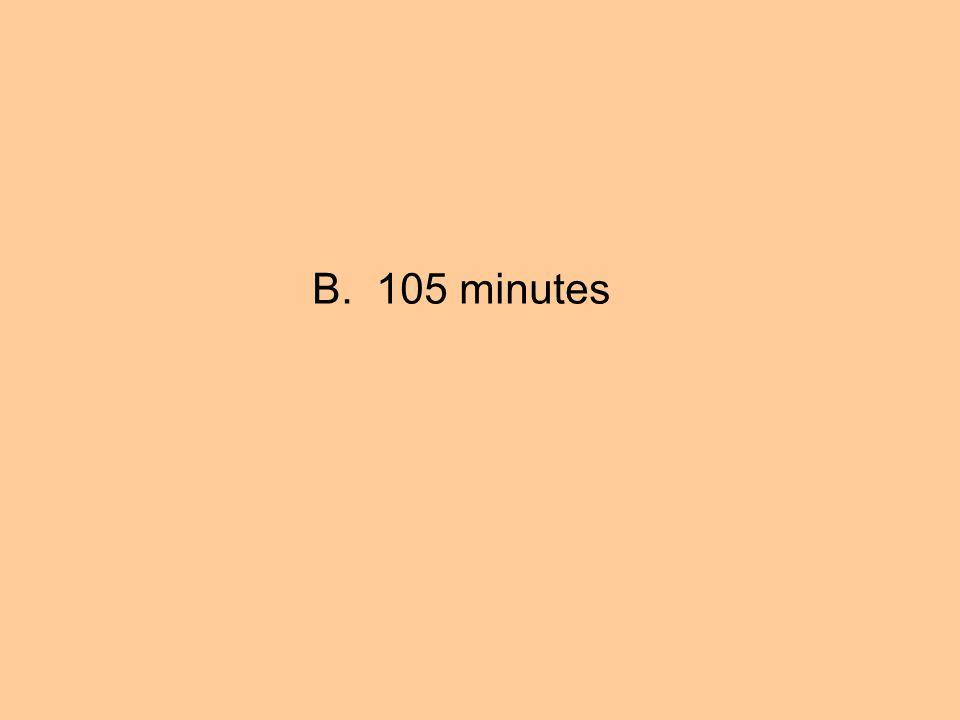 B. 105 minutes
