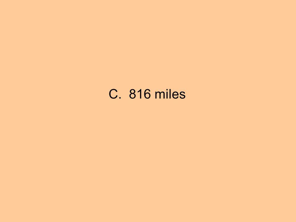 C. 816 miles