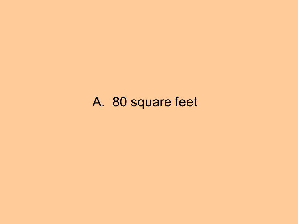 A. 80 square feet