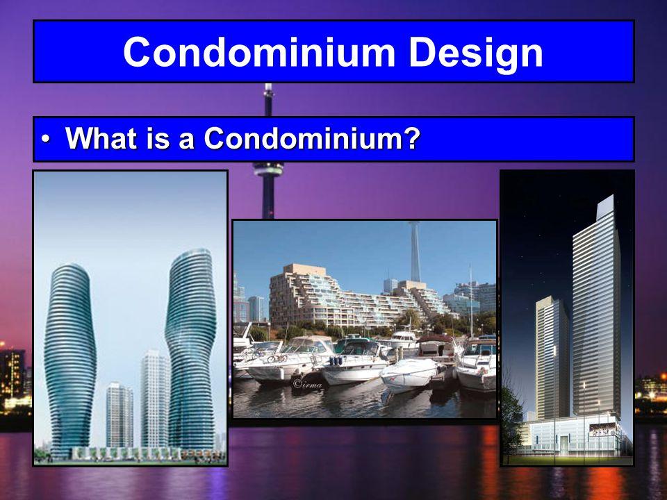 A condominium, or condo, is a form of housing tenure.