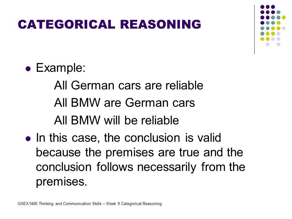 GXEX1406 Thinking and Communication Skills – Week 9 Categorical Reasoning Exercises 2.