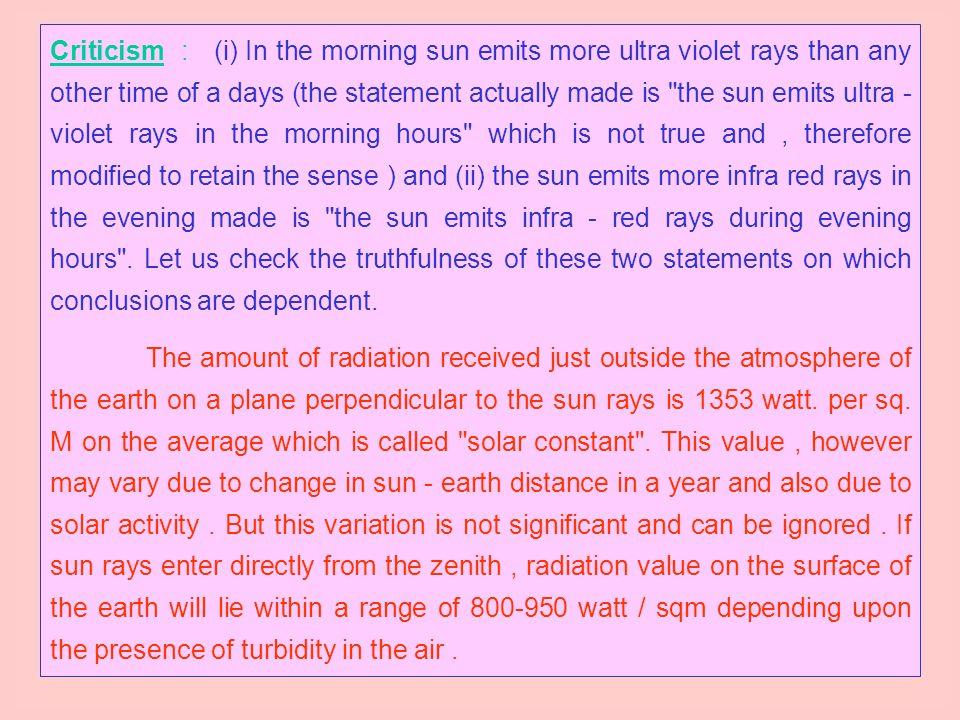 (b) Vastu and Sun rays :