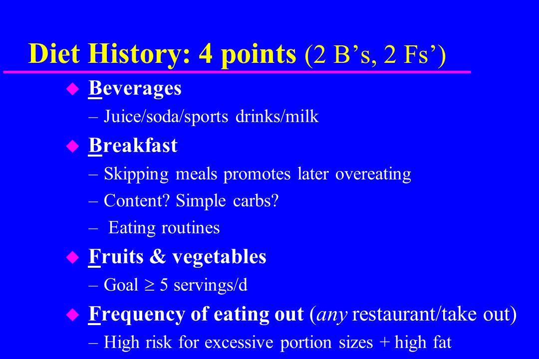 Targeted Diet Assessment