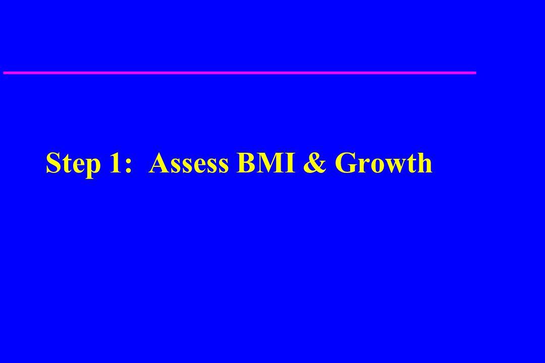 Step 1: Assess BMI & Growth
