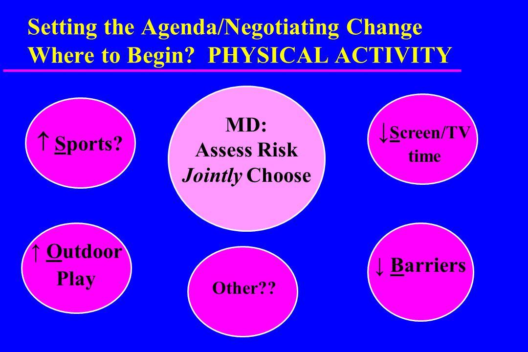 Setting the Agenda/Negotiating Change Where to Begin.