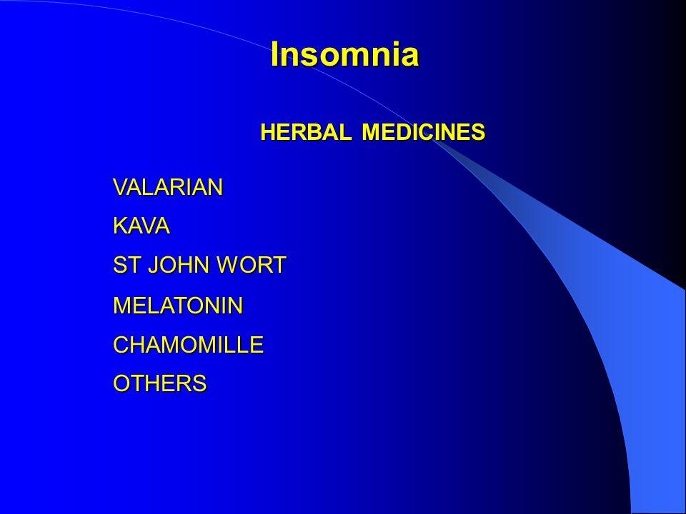 HERBAL MEDICINES VALARIANKAVA ST JOHN WORT MELATONINCHAMOMILLEOTHERS Insomnia
