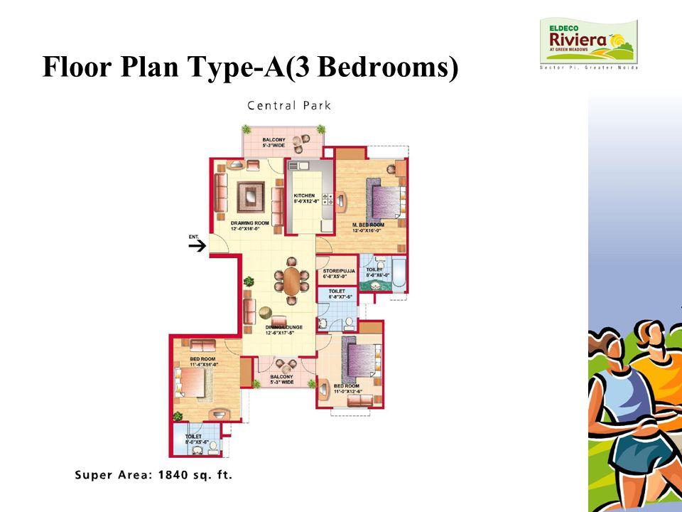 Floor Plan Type-A(3 Bedrooms)