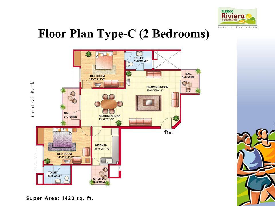 Floor Plan Type-C (2 Bedrooms)