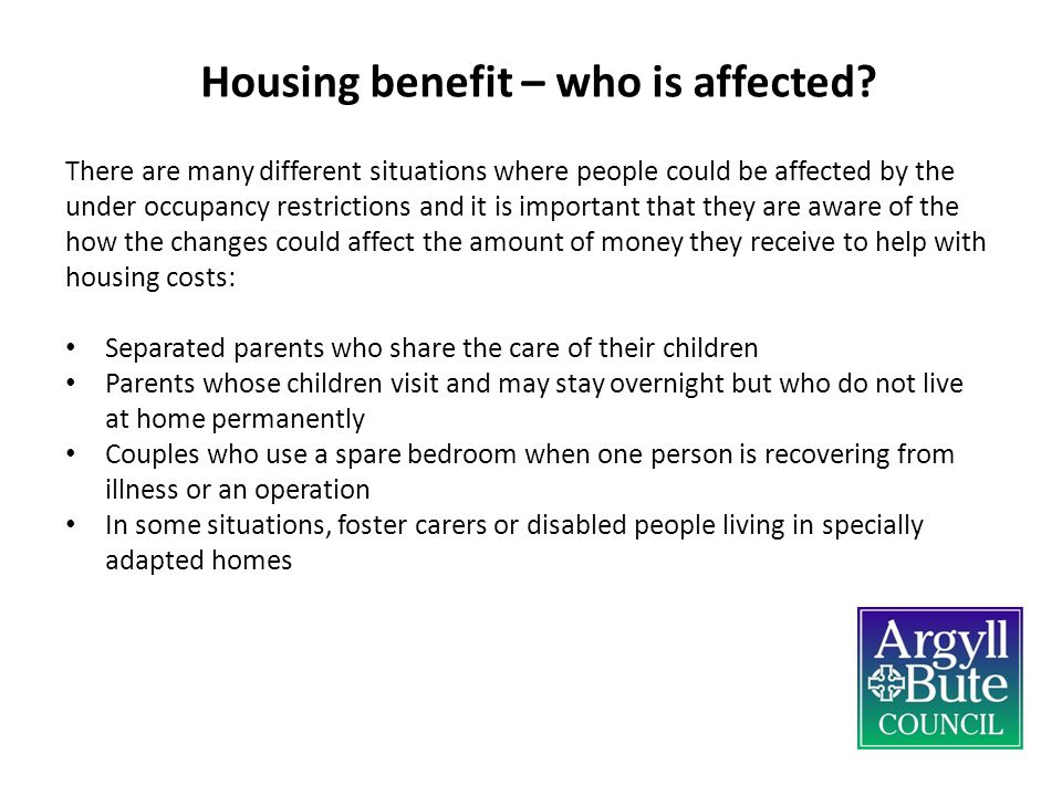 Housing benefit – who is affected.