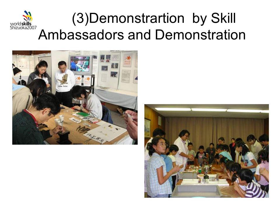 (3)Demonstrartion by Skill Ambassadors and Demonstration