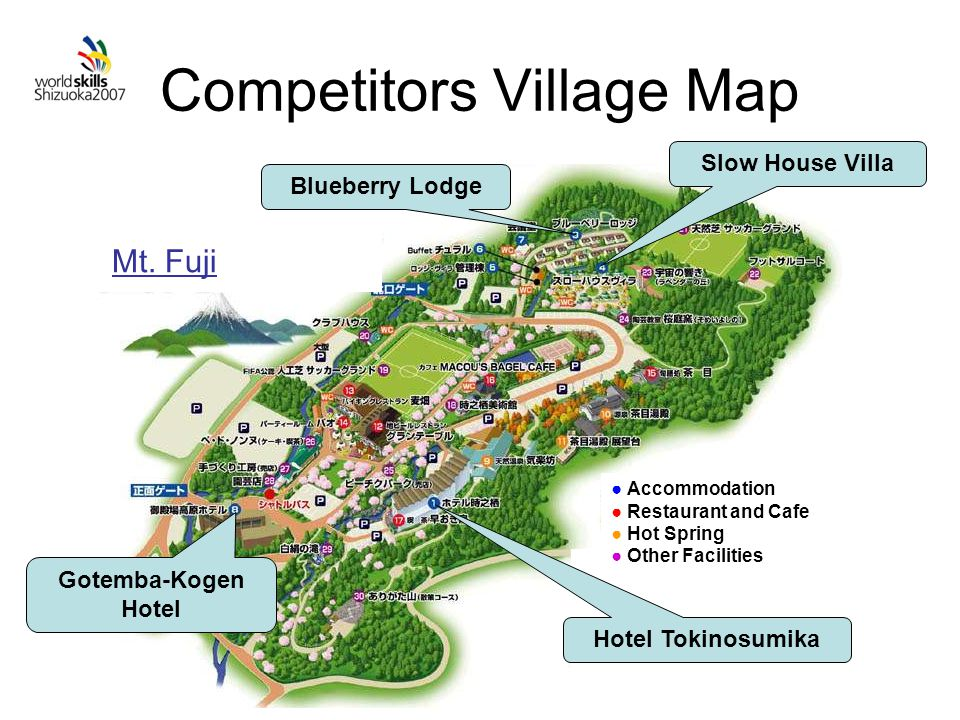 Competitors Village Map Blueberry Lodge Slow House Villa Hotel Tokinosumika Mt.