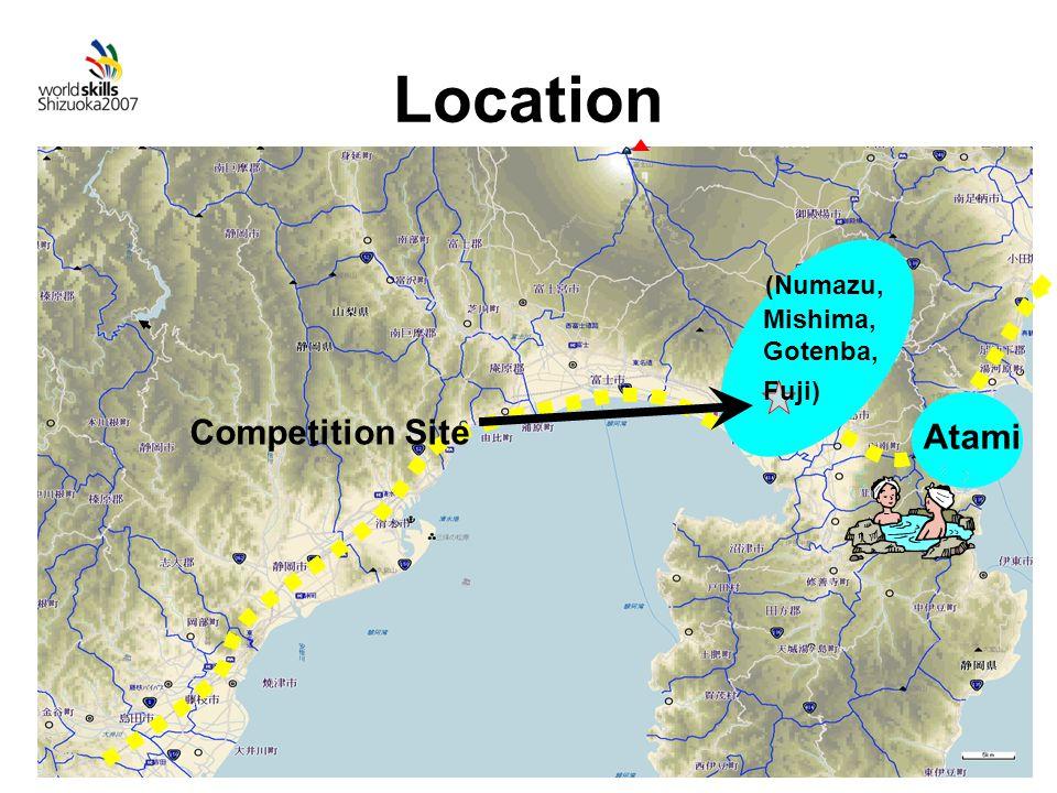 Location Atami Competition Site (Numazu, Mishima, Gotenba, Fuji)