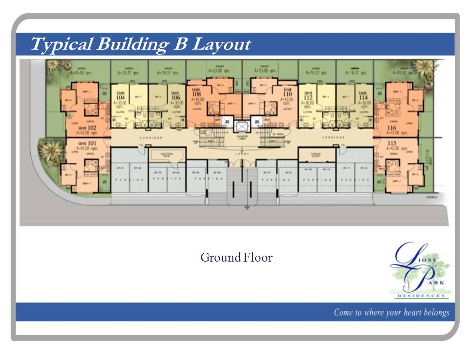 Typical Building B Layout Ground Floor