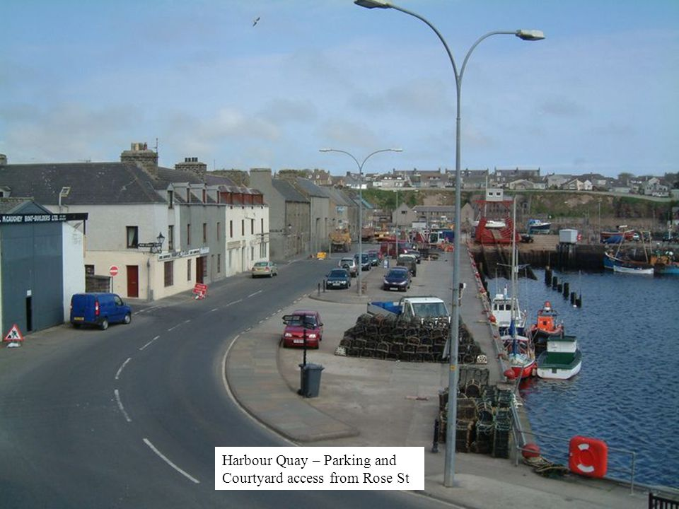 Harbour Quay – Parking and Courtyard access from Rose St